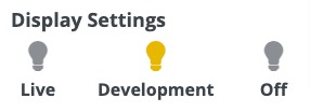 WordPress CTA Plugin Help - Display settings development option